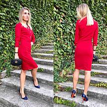 """Офисное платье-футляр по колено """"ROMIN"""" с четвертным рукавом (4 цвета), фото 3"""