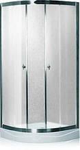 7122/100F (100х100 (15)см). Душевая кабина KO&PO с мелким поддоном, матовое стекло