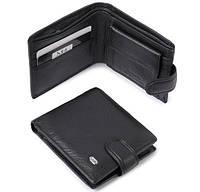 Мужской кошелек Dr.Bond М14 черный, фото 1