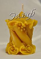 """Свеча из пчелиного воска """"Спираль"""", фото 1"""