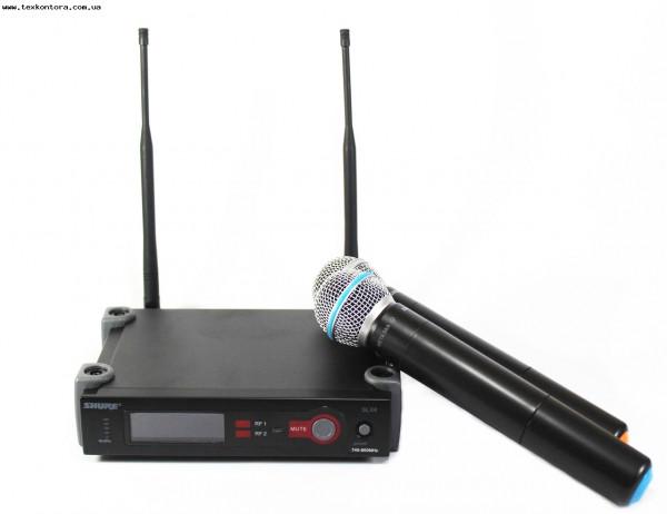 SHURE Микрофонная радиосистема SLX4 2 ручных микр.