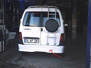Накладка на задній бампер (під фарбування) Peugeot Partner