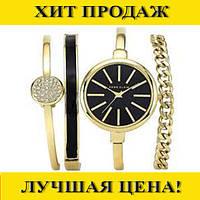Часы в подарочной упаковке ANNE KLEIN Gold black!Спешите Купить