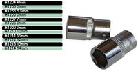 Головка шестигранная короткая 1/4 8мм черная HONITON, Н1208