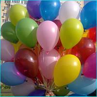 Оформление воздушными шарами:Гелевые шарики-35см,разноцвет.