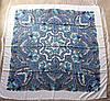Платок павлопосадский белый шерстяной (140см) 606001, фото 3