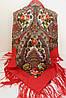 Платок павлопосадский красный шерстяной (140см) 606004, фото 4