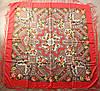 Платок павлопосадский красный шерстяной (140см) 606004, фото 3