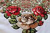 Платок павлопосадский белый шерстяной (140см) 606007, фото 5