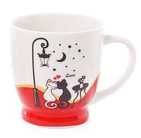 Кружка фарфоровая кофейная Влюбленные, 2 вида, 230мл, фарфор, в упаковке 12шт. (588-140)