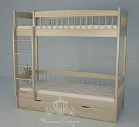 """Кровать двухъярусная  """"Кантри"""" Тatural. Ясень., фото 1"""