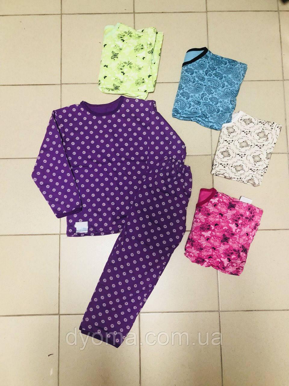 Детская подростковая пижама для девочек  (начёс)