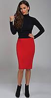 Юбка TEFFI style-1340 белорусский трикотаж, красный, 52