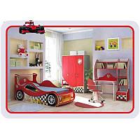 Детская комната с кроватью машинкой Driver Маквин мальчику, фото 1