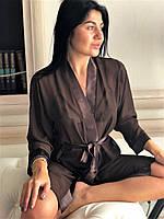 Домашний женский шифоновый халат, нижнее белье., фото 1