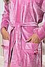Длинный велюровый халат c кружевом Anna Christina 5029-1, фото 2