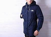 Куртка мужская /Парка ТНФ зимняя в стилеThe North Face / синяя
