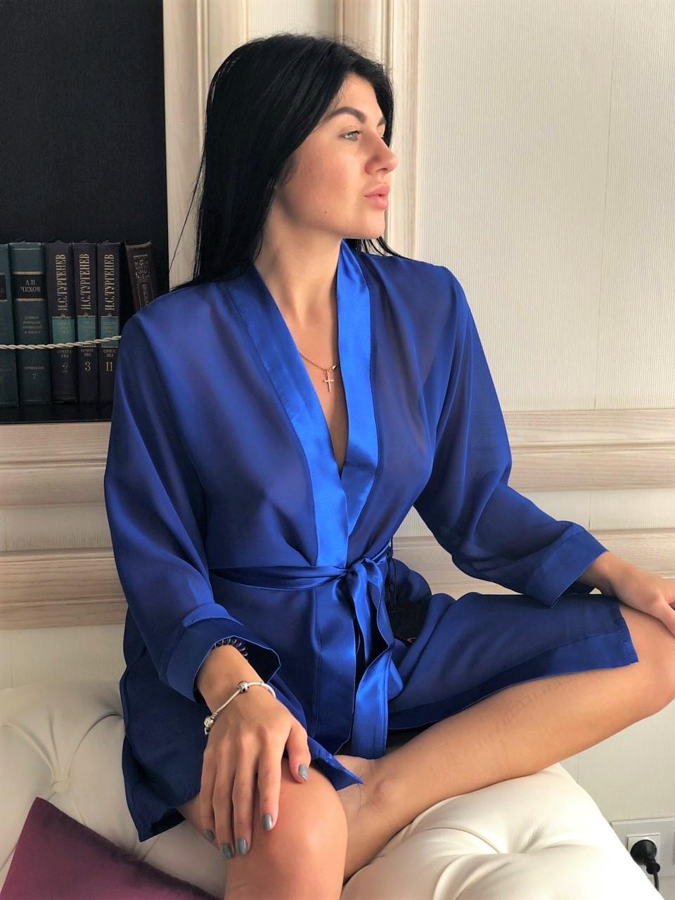 Женская одежда для дома, воздушный халат из шифона.