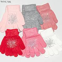Перчатки детские на девочек 3-5 лет - №18-3-8, фото 1