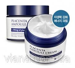 Антивозрастной, укрепляющий и питательный плацентарный крем  MIZON Placenta Ampoule Cream50 ml