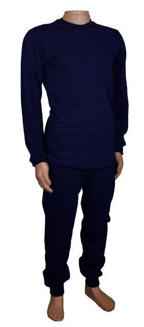 Мужское нательное белье синее без начеса
