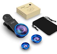 Комплект линз 3в1 для телефона Синий