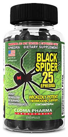 Лучший жиросжигатель Cloma Pharma Black Spider 1 caps поштучно, фото 2