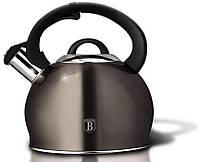 Чайник со свистком Metallic Line CARBON Berlinger Haus BH-1789 — 3л