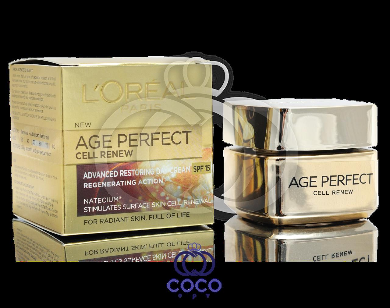 Дневной крем для лица Loreal Age Perfect Cell Renew