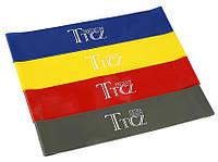 Резинка для фитнеса и спорта TTCZ (эластичная лента эспандер) набор 4 шт + Чехол в комплекте