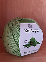 Летняя пряжа (49%-хлопок, 51%- акрил; 50г/ 130м) Kartopu Amigurumi K1390