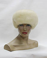 "Норковая шапка ""Кубанка"" без украшения (жемчуг)"