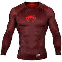 Venum, Реглан Venum Nightcrawler Rashguard Long Sleeves красный, фото 1