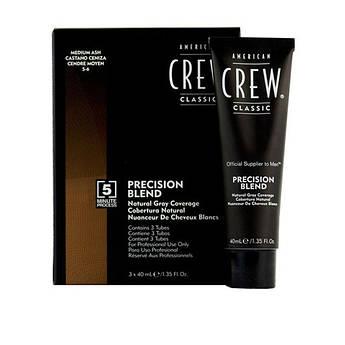 Система маскировки седины American Crew (уровень 5-6) Precision Blend Medium Ash