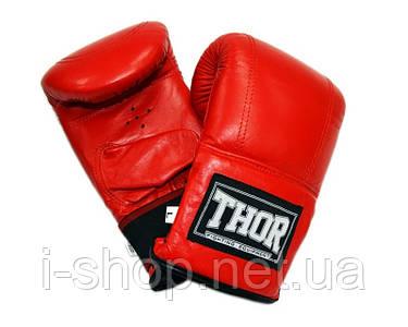 THOR 606 (Leather) RED Снарядные перчатки