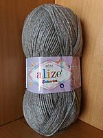 Детская пряжа(100%-акрил,100г/320м) Alize Sekerim bebe 21(серый)