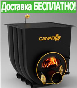 Печь Булерьян Canada с варочной поверхностью со стеклом (7 кВт, до 130 куб.м)
