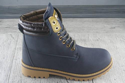 """Ботинки еврозимана меху в стиле """"Timberland"""" обувь из эко нубука, повседневная, Размеры 36-41"""