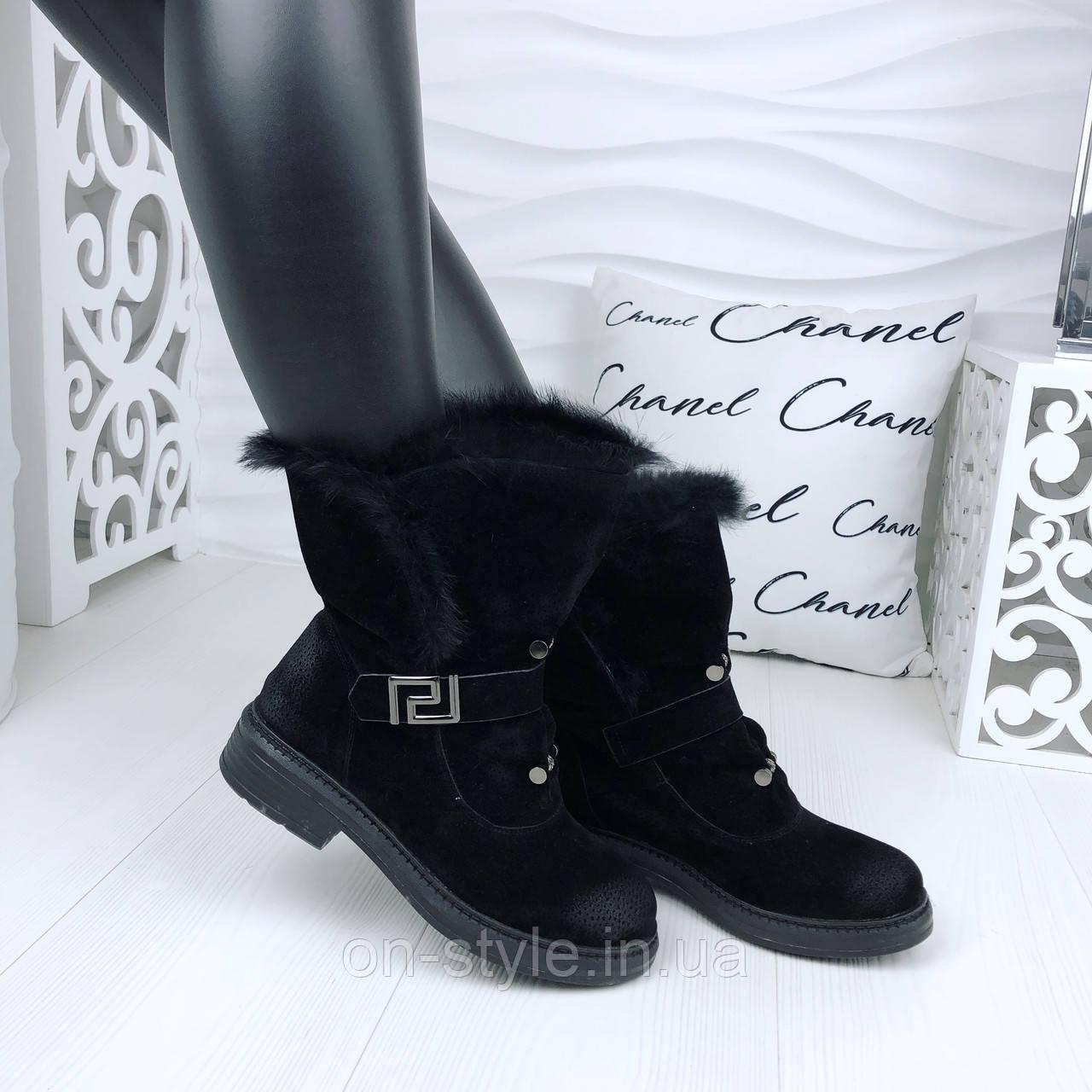 eaac277011ea Женские замшевые черные стильные ботинки Diesel  продажа, цена в ...