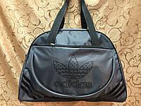 Спортивная сумка для фитнеса Adidas, Адидас серая с черным
