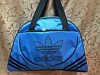 Спортивная сумка для фитнеса Adidas, Адидас голубая с черным