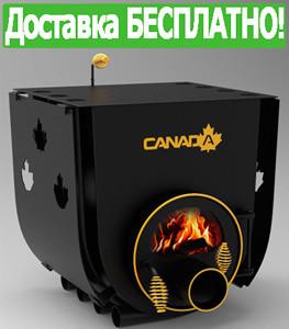 Печь Булерьян Canada с варочной поверхностью стекло+перфорация (12 кВт, до 260 куб.м)