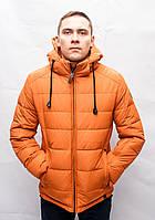 Мужской зимний пуховик куртка парка молодежная короткая с капюшоном спортивная