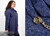 Туніка жіноча з шарфом, з 54-70 розмір