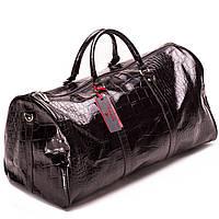 Дорожная сумка кожаная  Eminsa черная 6528-4-1