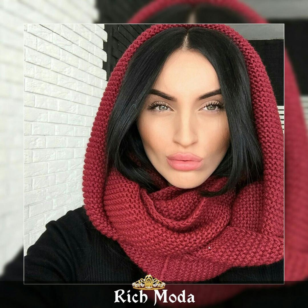 женский теплый вязаный шарф хомут продажа цена в харькове шарфы