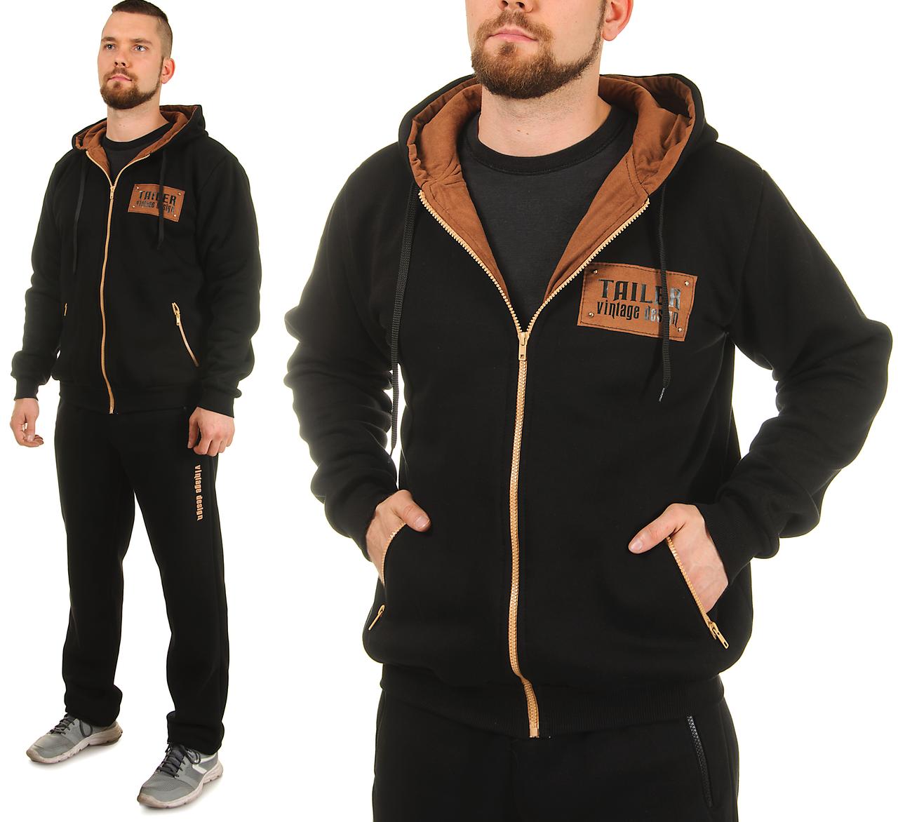 Теплый спортивный костюм мужской трехнитка с начесом (замш) - Интернет  магазин Sport-sila b73732985ce
