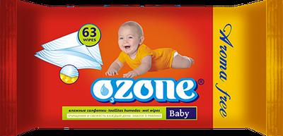 """Дитяча волога серветка """"OZONE"""" з екстрактом календули (63шт)"""