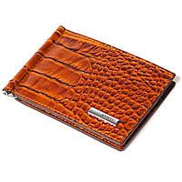Зажим для денег кожаный коричневый Karya 0902-61