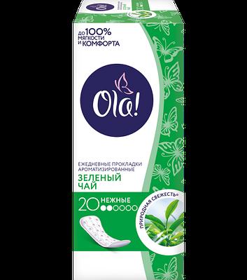 """Щоденні прокладки """"OLA!"""" DAILY DEO """"Зелений чай"""" 20шт"""